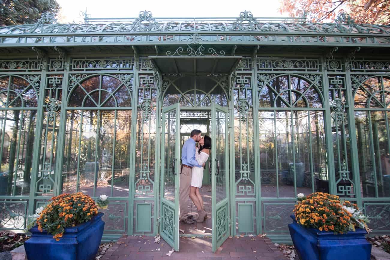 Autumn Denver Botanic Gardens Engagement   Denver Wedding Photographer
