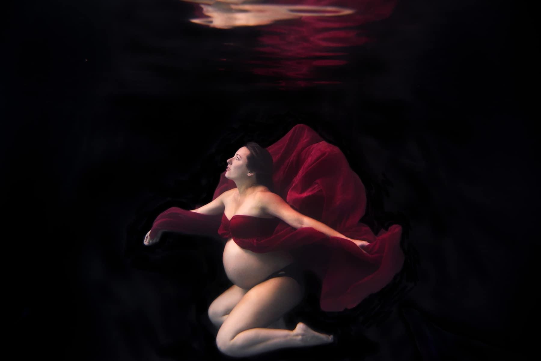 Underwater Maternity Photographer Denver Colorado