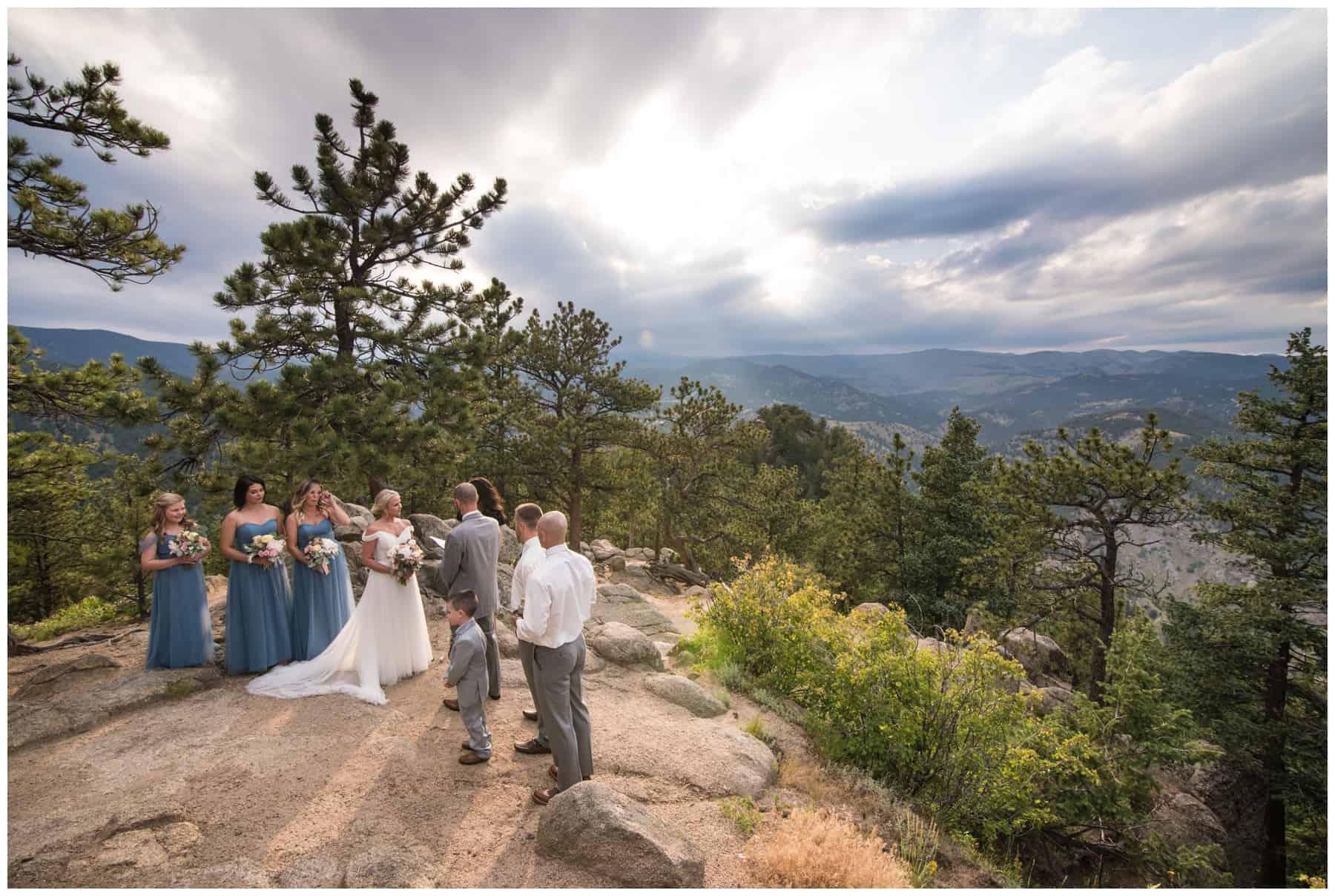 wedding at artist point in boulder colorado