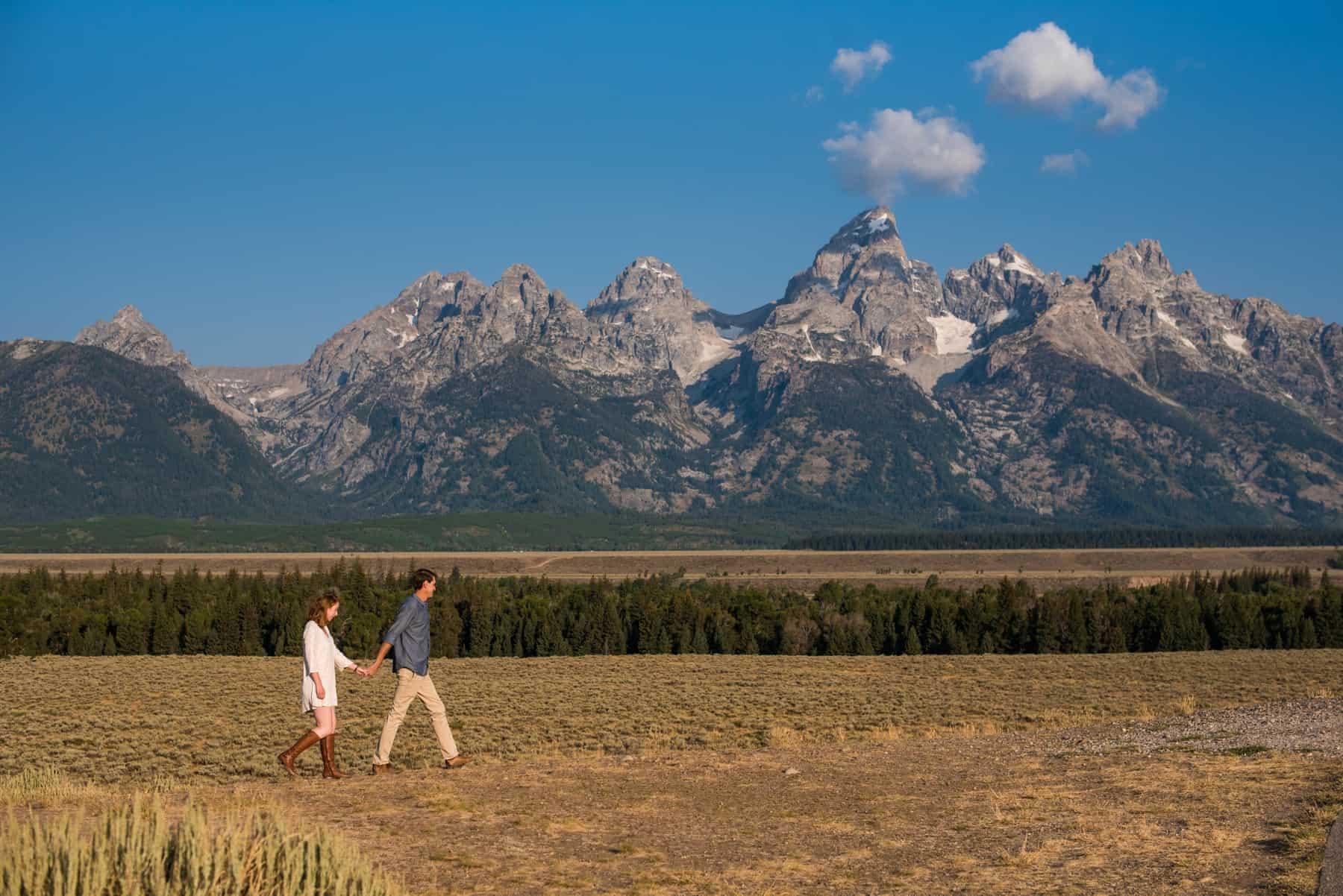 grand teton national park engagement portraits