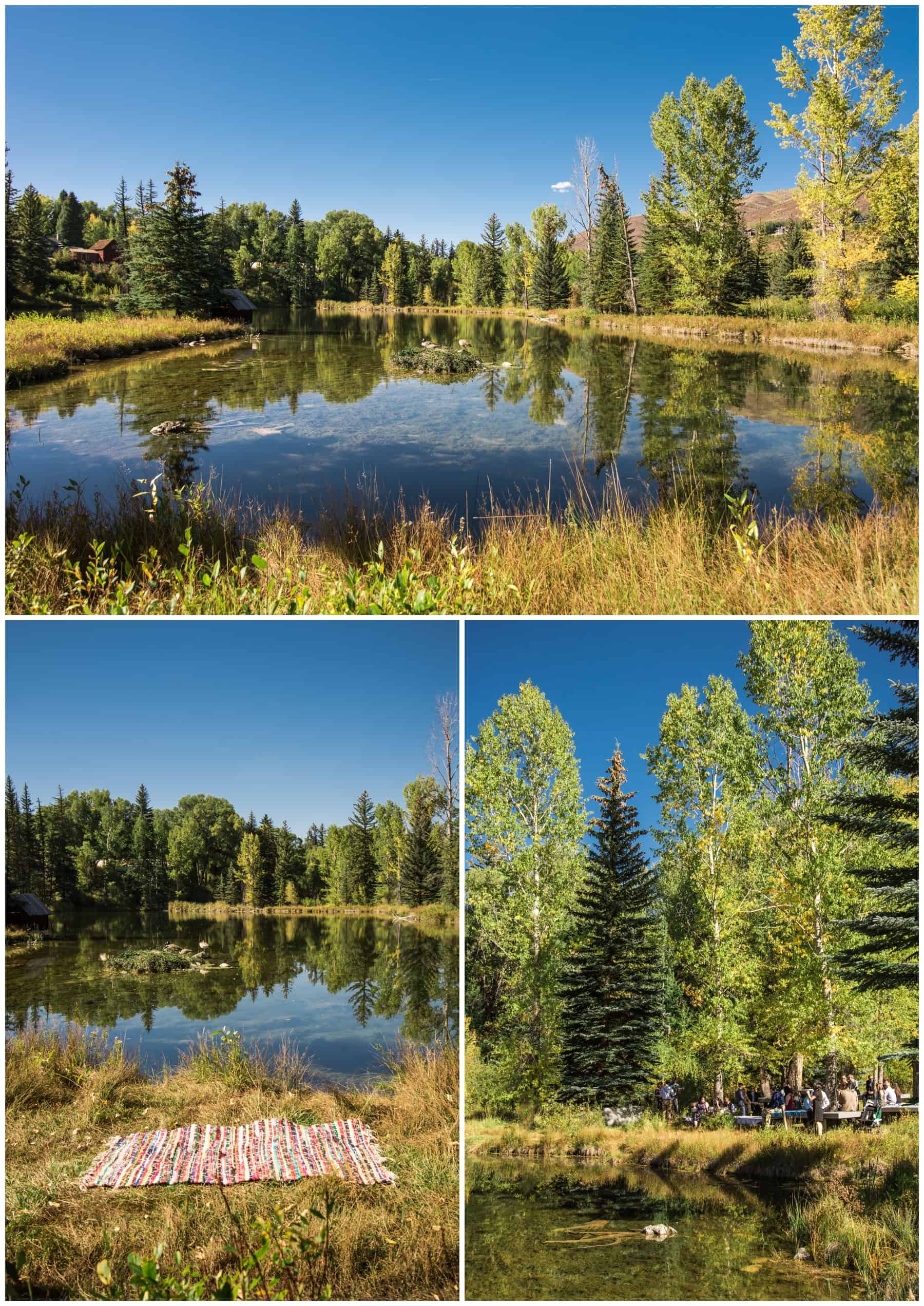 hallam lake autumn wedding in aspen