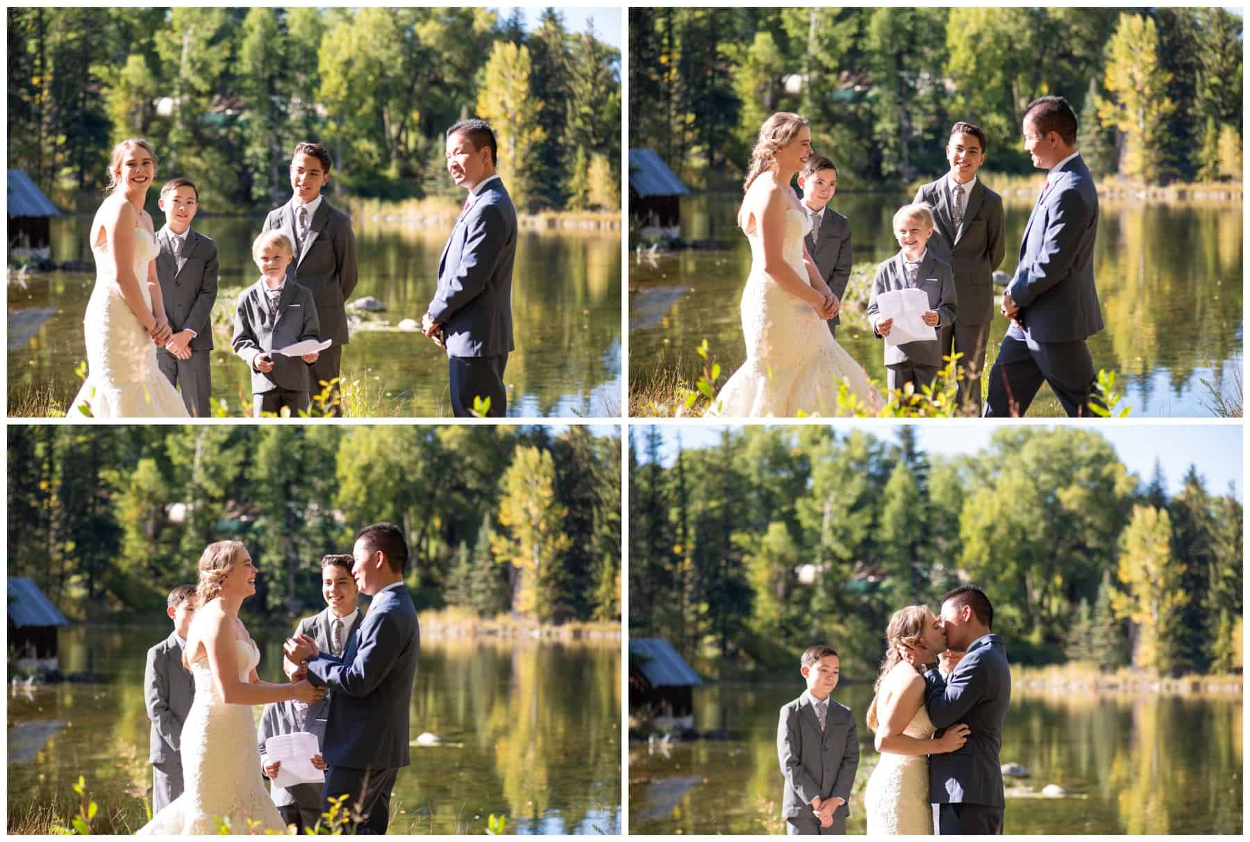 wedding at hallam lake in aspen colorado