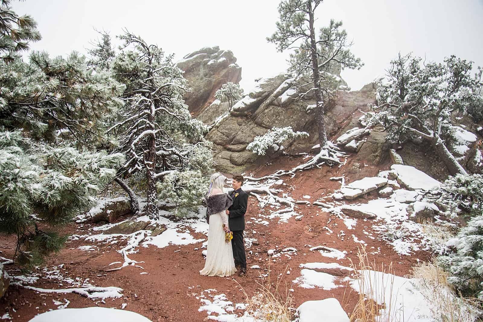 winter adventure wedding boulder colorado photographer