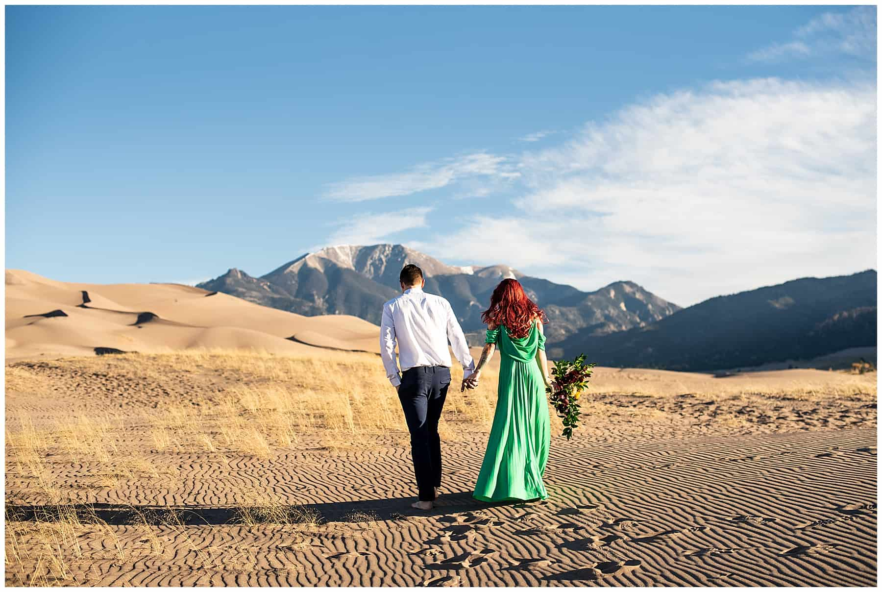 sand dunes national park wedding