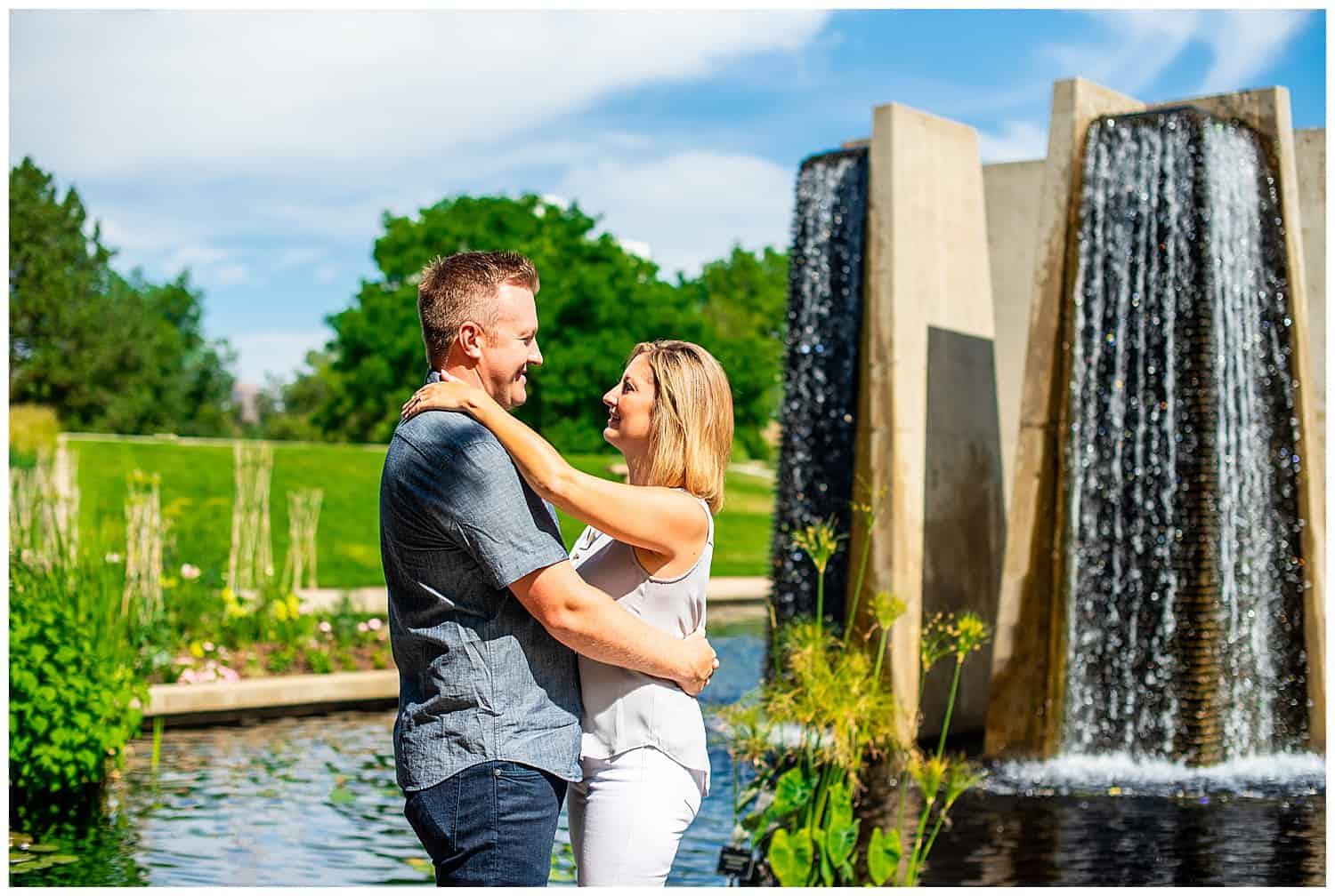 denver botanic gardens engagement photos