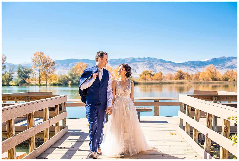 boulder lake wedding portraits