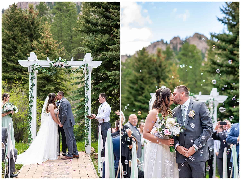 mountain view ranch pine co wedding photos