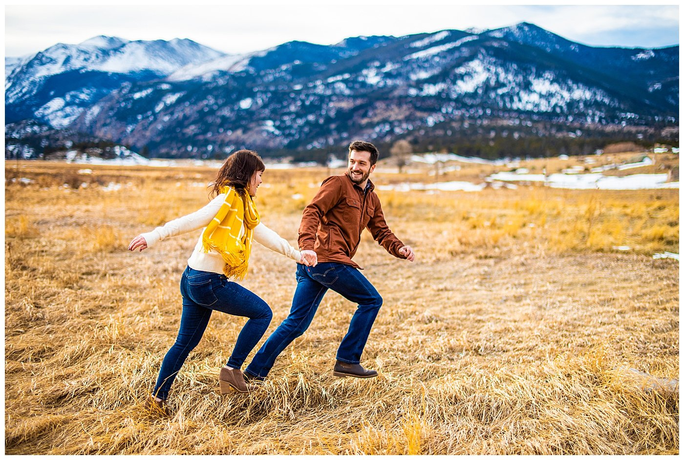 engagement photos at rocky mountain np