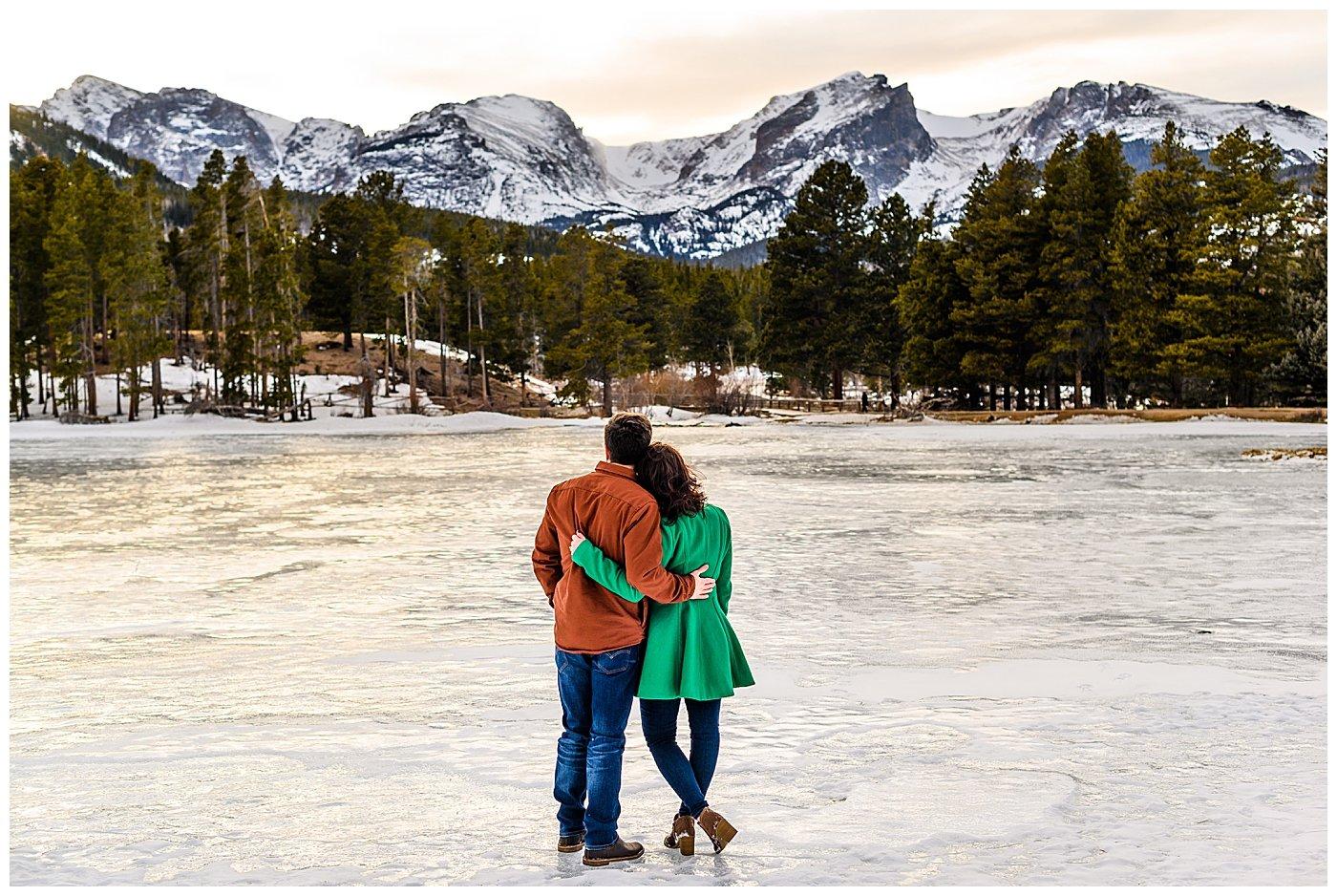sprague lake engagement photos