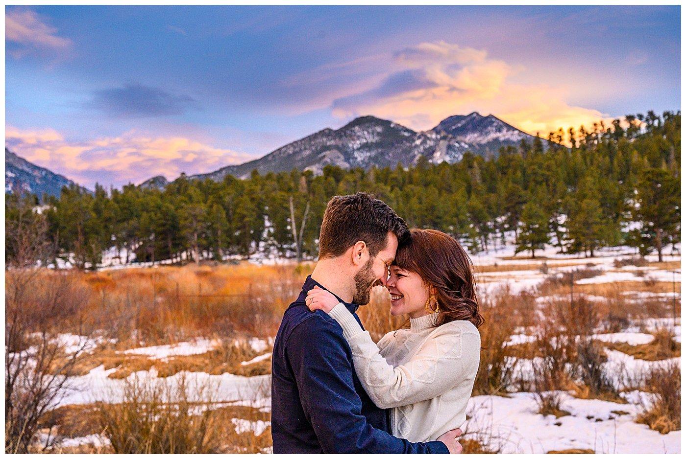 moraine park sunset engagement portraits