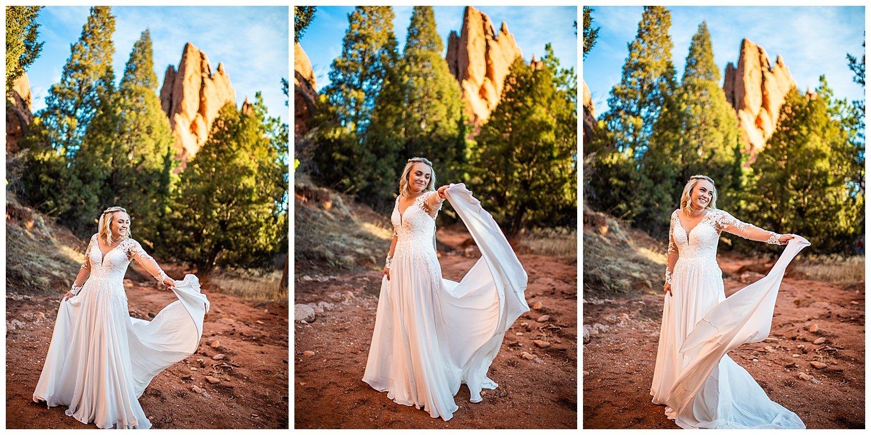 garden of the gods wedding photographer