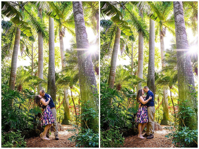 sunken gardens engagement photos