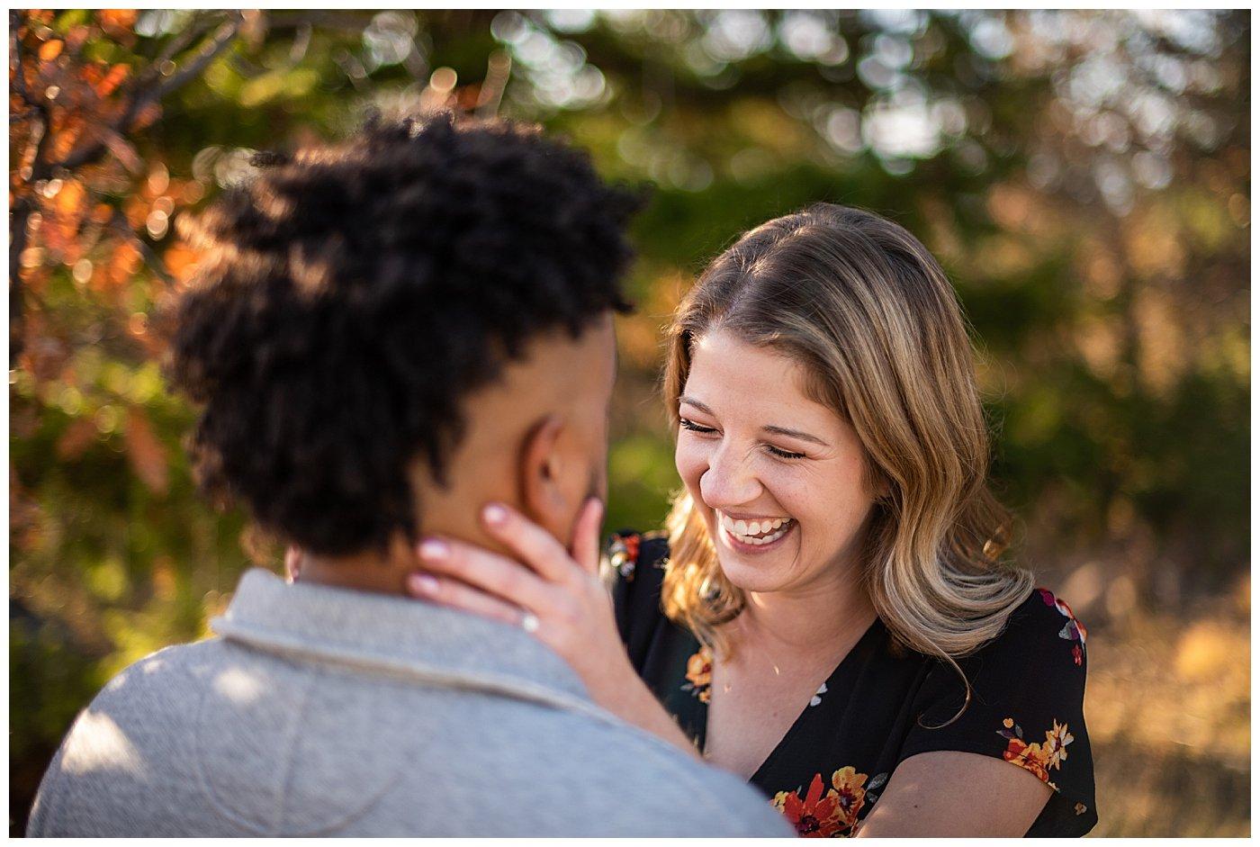 autumn engagement denver photographer