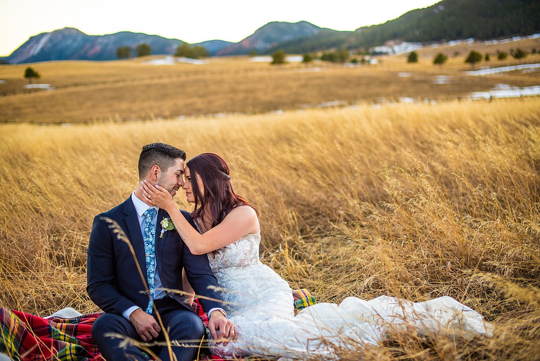 spruce mountain ranch wedding photos