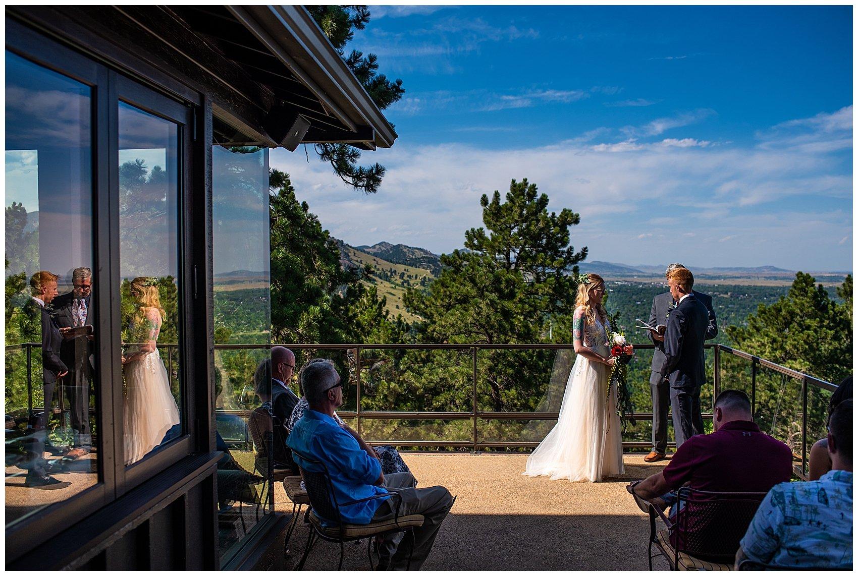 wedding at flagstaff house boulder co