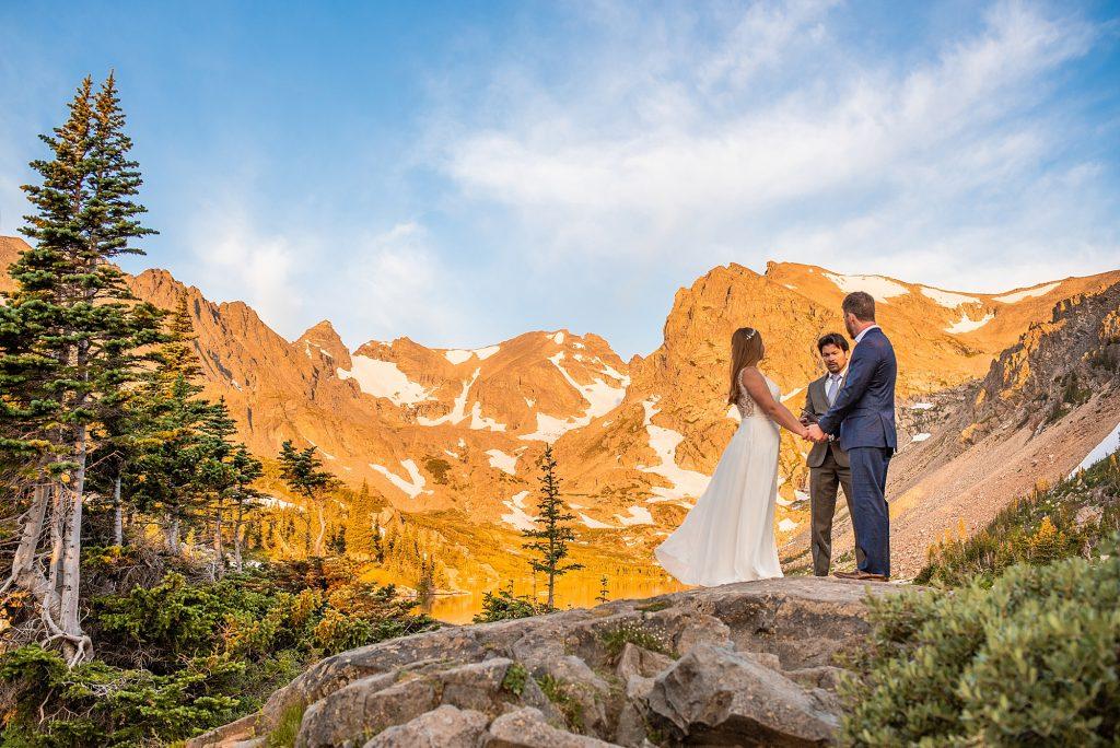 lake isabelle elopement sunrise colorado