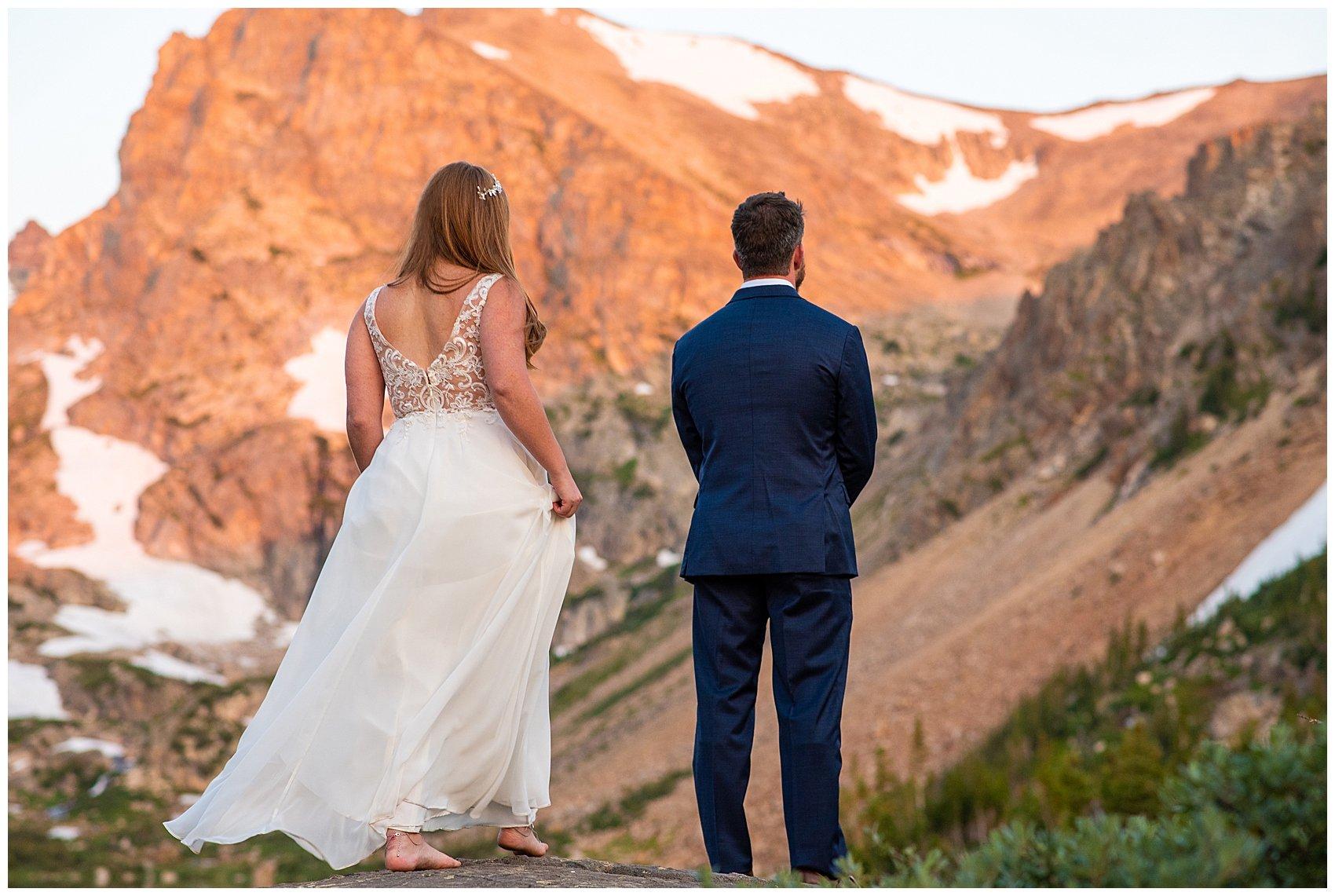 lake isabelle sunrise elopement colorado photographer
