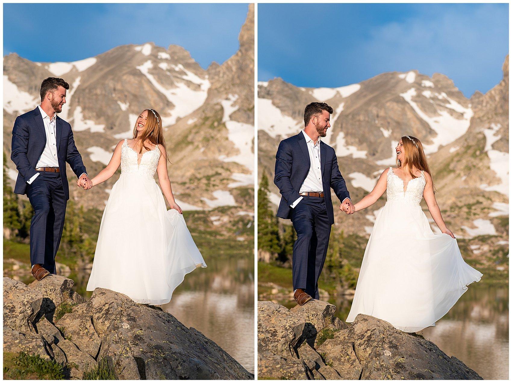 lake isabelle sunrise elopement