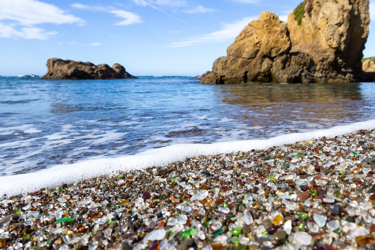 fort bragg glass beach california elopement
