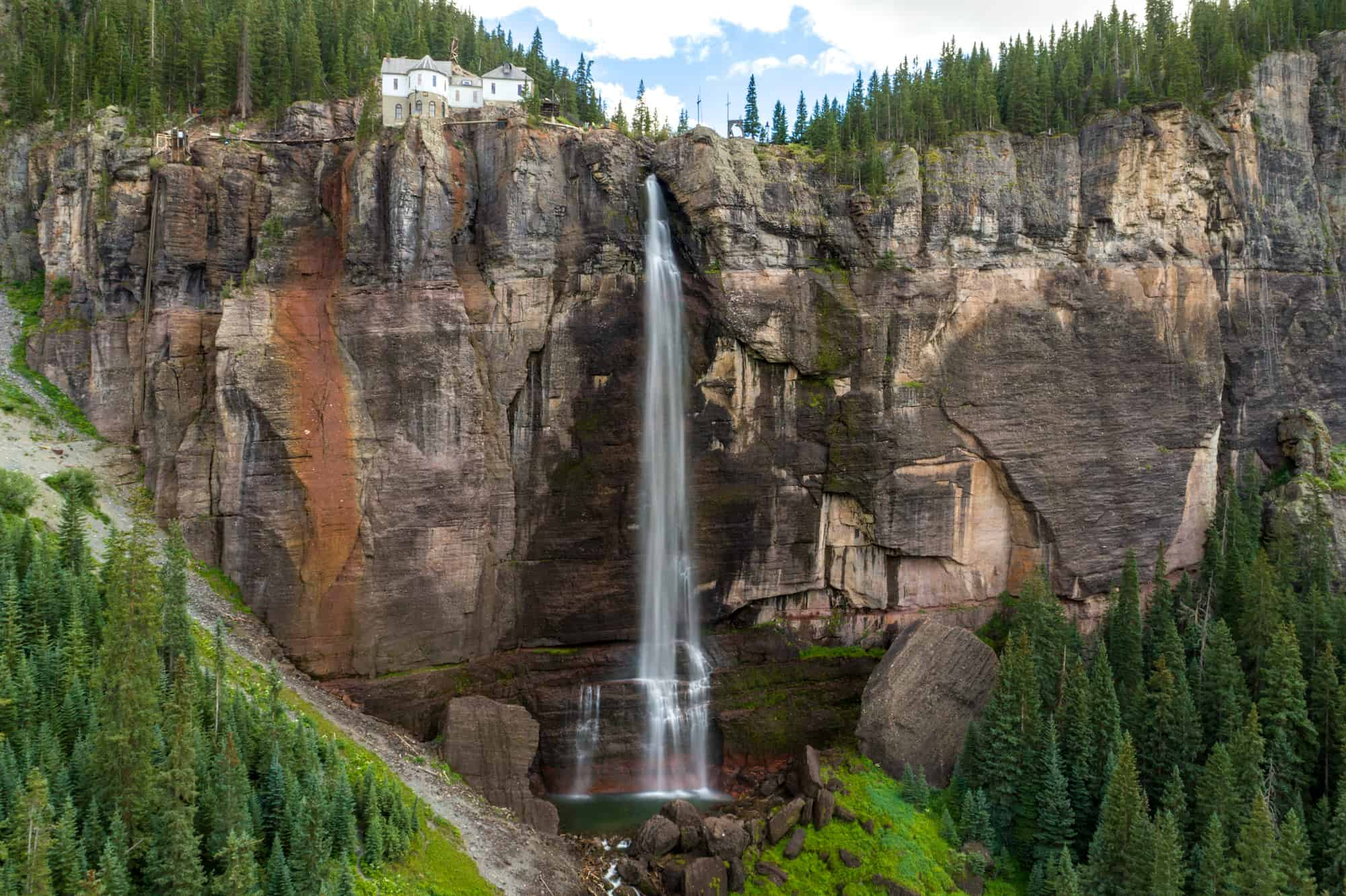 best waterfalls in colorado for elopements