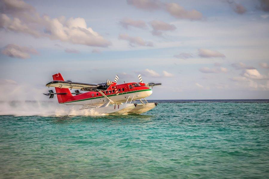 adventure elopement idea seaplane ride
