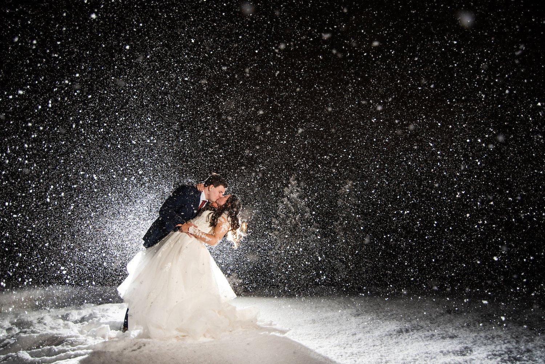 snow winter elopement colorado