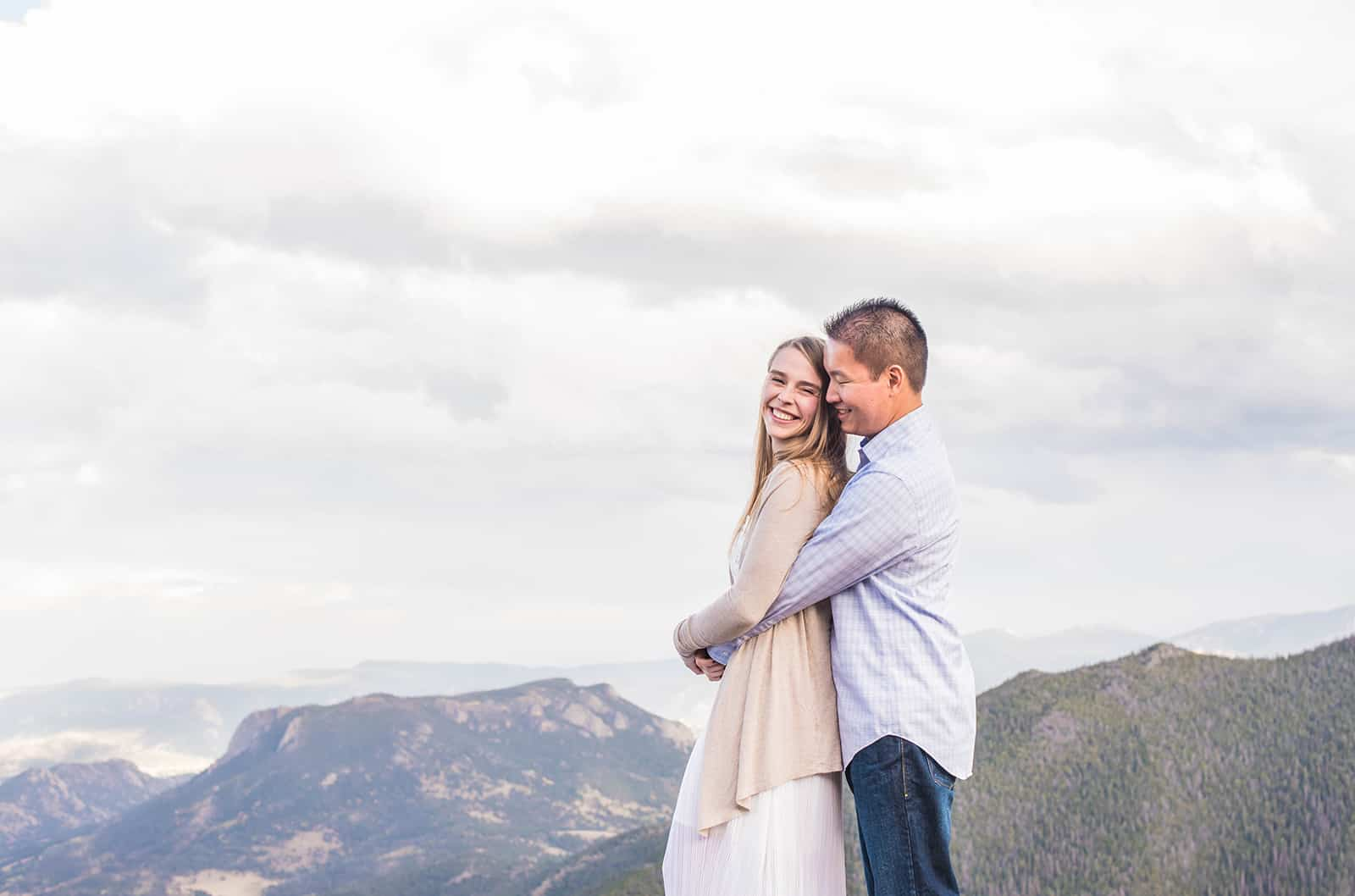 rocky mountain national park engagement photographer