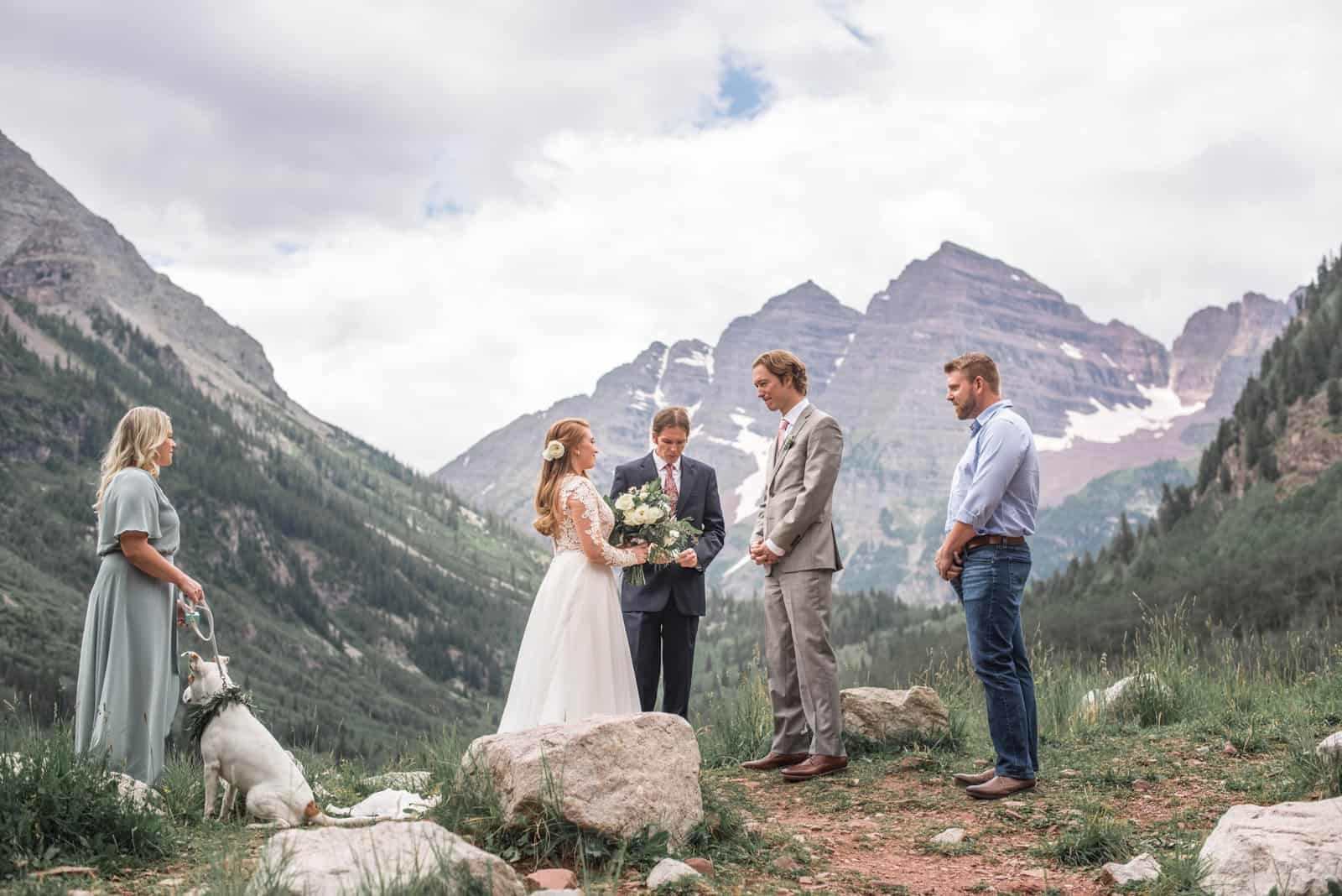 Aspen Wedding Photographer   Wedding at Maroon Bells Amphitheatre