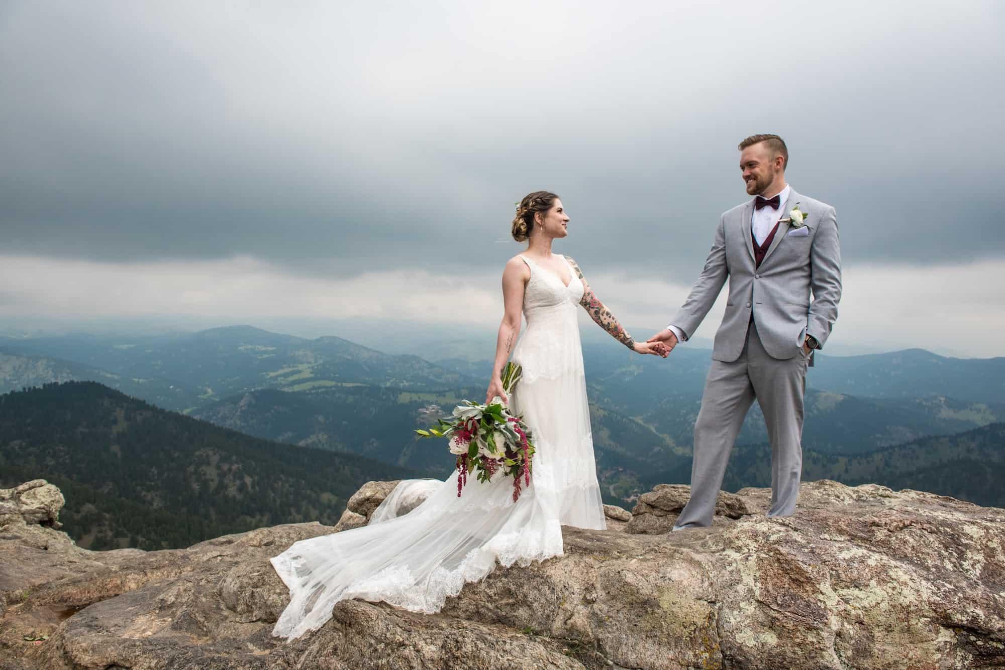 colorado elopement photographer adventure wedding