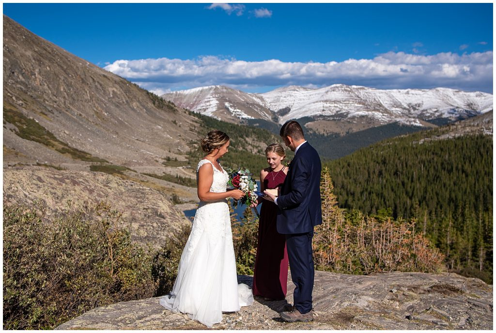 hiking elopement photographer breckenridge co