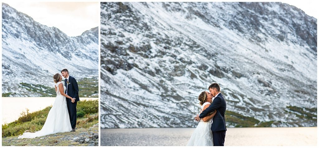 blue lakes breckenridge elopement