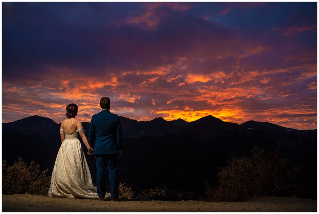 boreas pass sunset elopement photographer