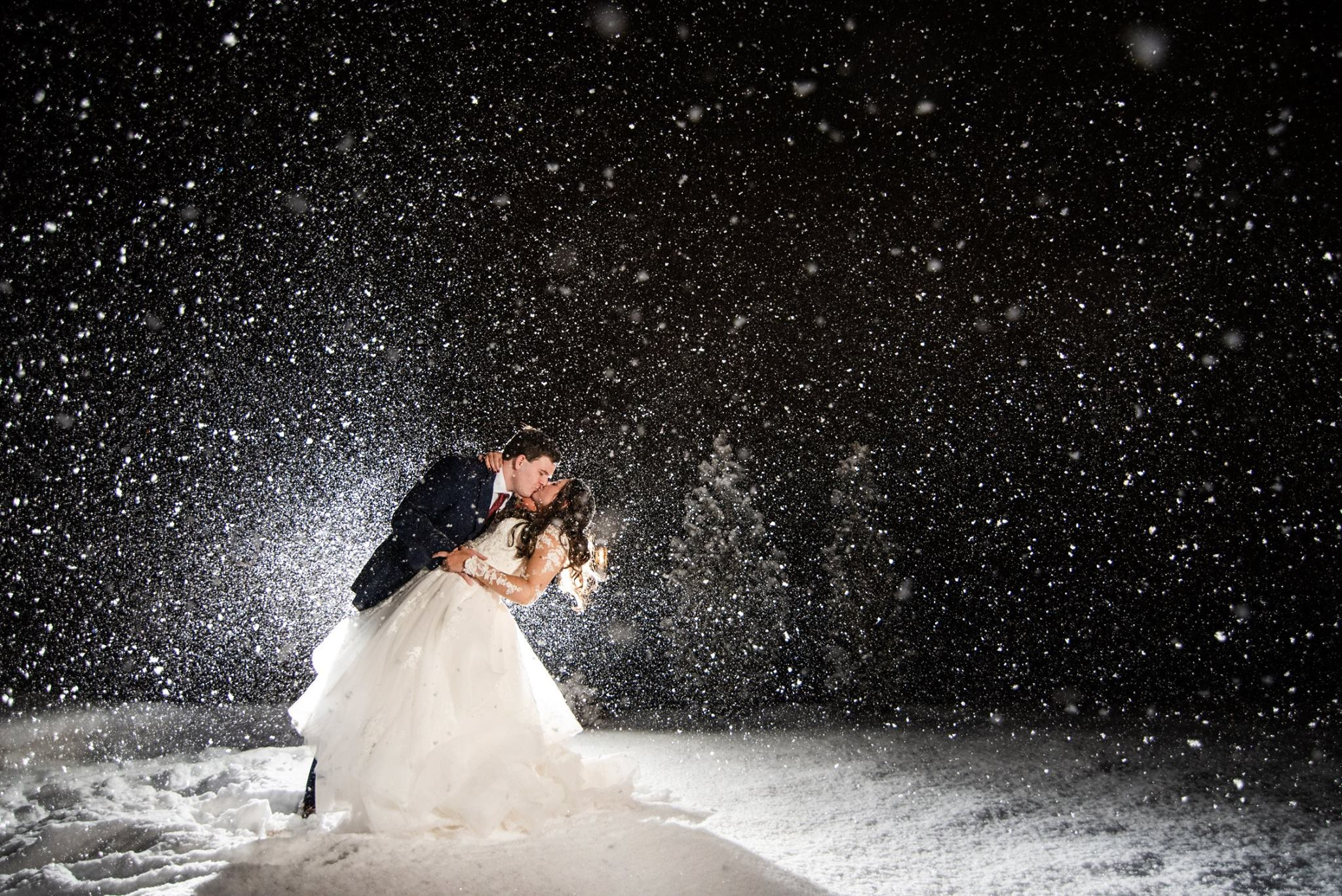 snow on elopement day