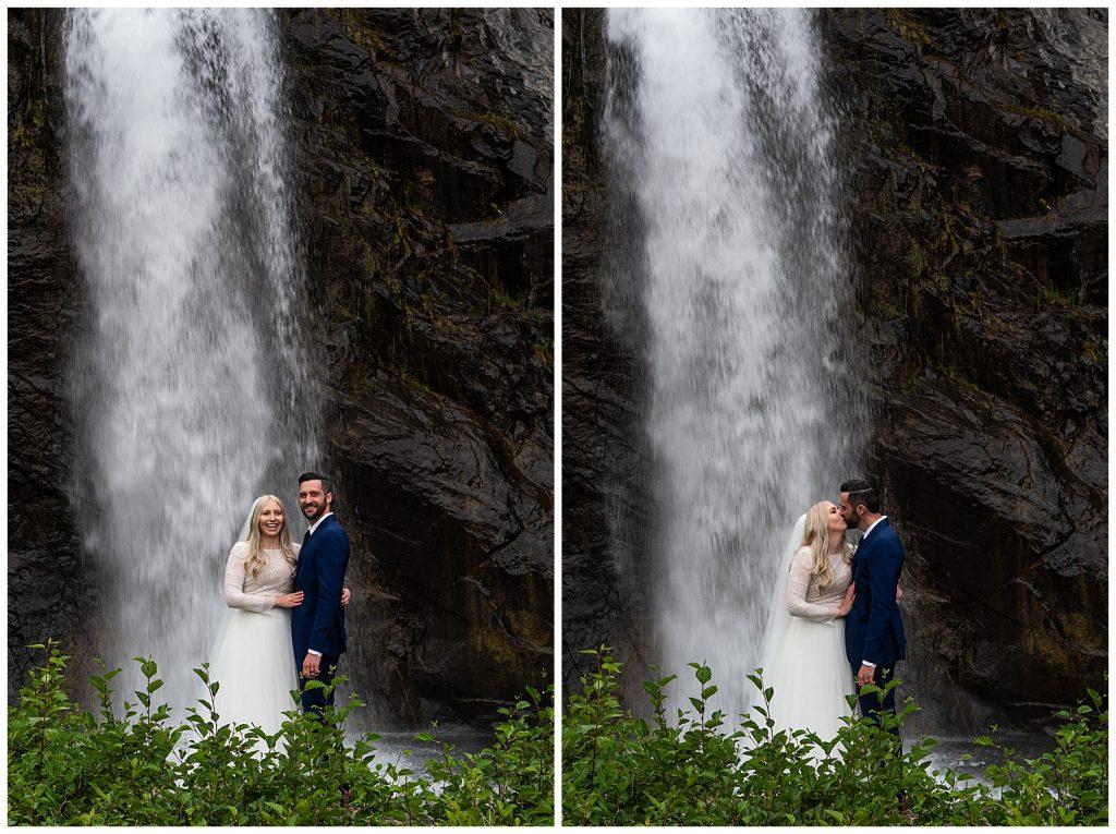 waterfall elopement alaska
