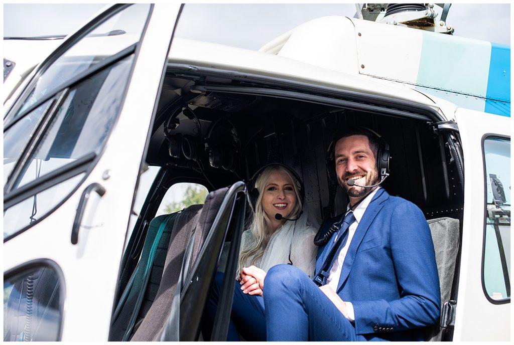 adventure elopement ideas helicopter