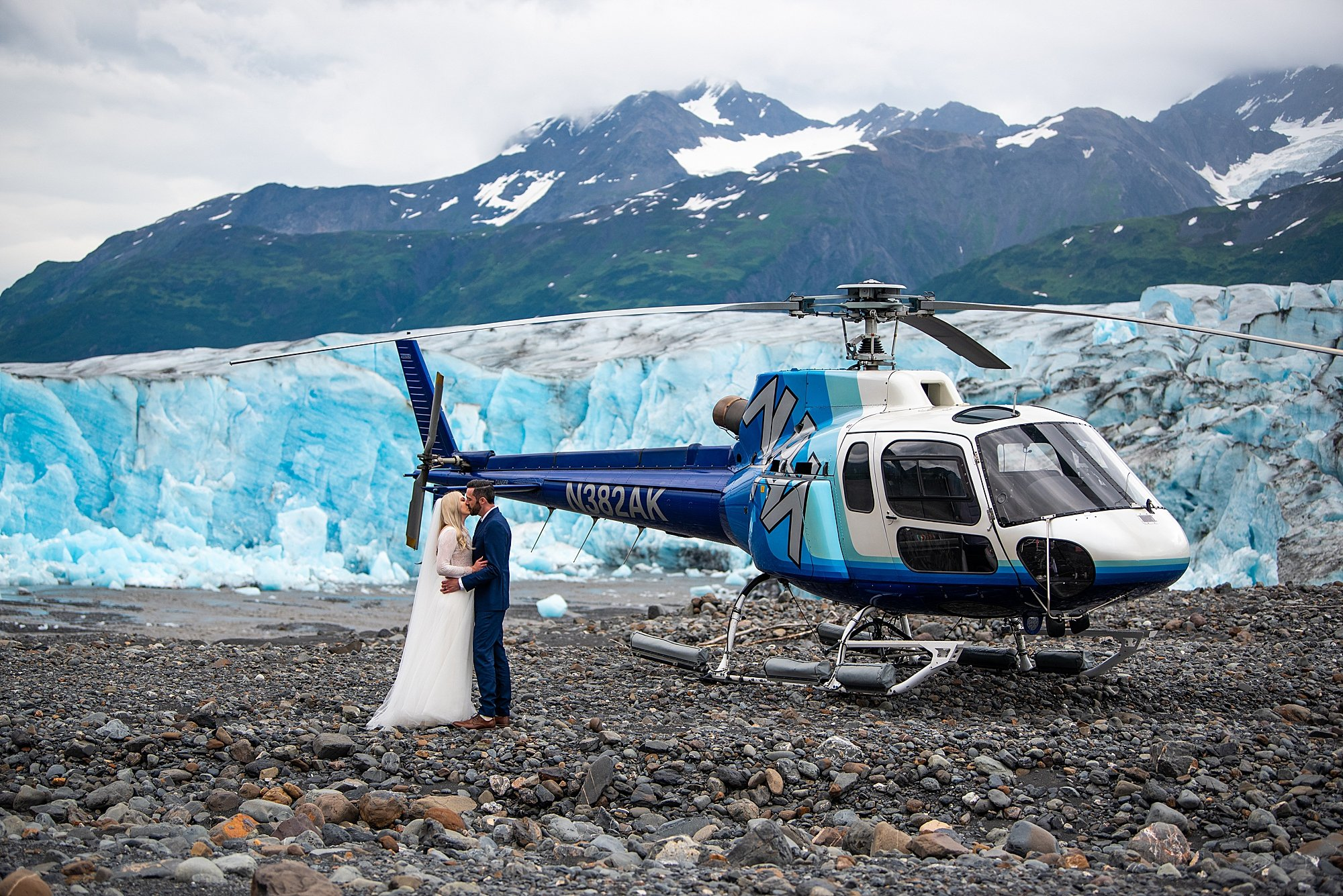 Helicopter Elopement in Alaska | Alaska Elopement Photographer